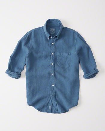 Garment Dye Linen Shirt 6