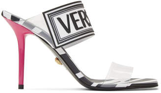 Versace Black Vinyl Savage Zebra Heels