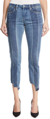 Blank NYC Mid-Rise Skinny High-Low Hem Jeans
