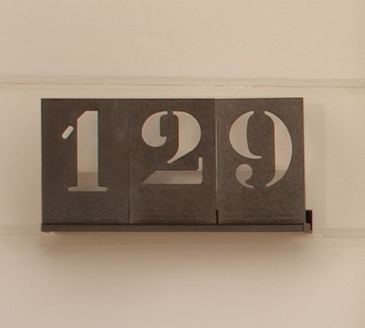 Pottery Barn Stencil House Numbers