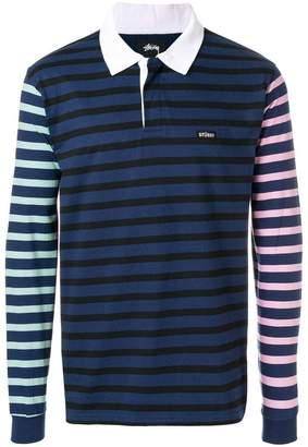 Stussy long sleeved polo shirt