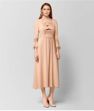 Bottega Veneta Peach Rose Silk Dress