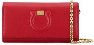 Salvatore Ferragamo logo mini clutch