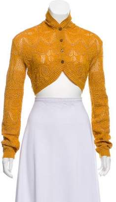 Missoni Metallic Open Knit Cropped Sweater w/ Tags