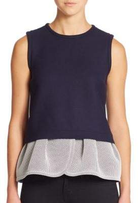 Mother of Pearl Irving Sleeveless Peplum Top