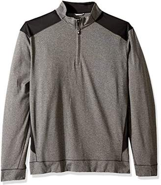 Cutter & Buck Men's Smooth Melange Stripe Shoreline Colorblock Full Zip Jacket