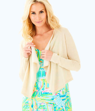 Lilly Pulitzer Womens Colony Open Drape Front Cardigan