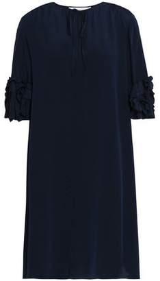 See by Chloe Ruffle-Trimmed Silk-Crepe Mini Dress
