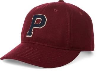 Ralph Lauren Letterman Flannel Baseball Cap