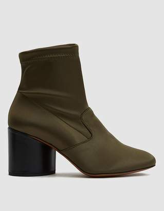 Clergerie Stretch Satin Heeled Boot