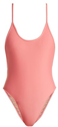 Adriana Degreas - Le Fleur High Leg Swimsuit - Womens - Light Pink