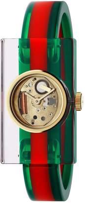 Gucci Plexiglas Bracelet Watch, 24mm x 40mm
