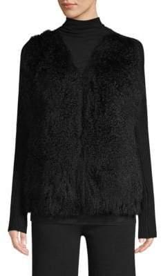 TSE x SFA Mongolian Fur& Cashmere Cardigan