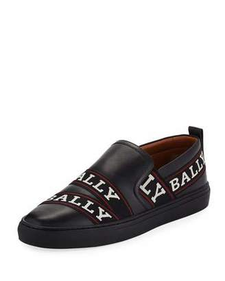 Bally Men's Helia Logo-Ribbon Slip-On Sneakers