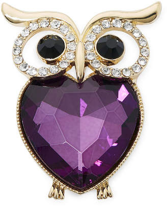 MONET JEWELRY Monet Crystal Owl Pin