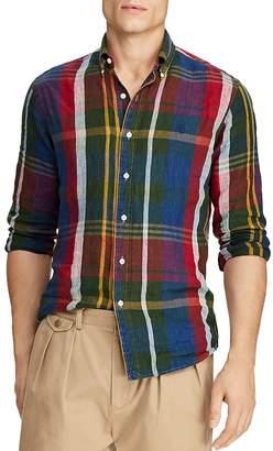 Polo Ralph Lauren Yale Plaid Linen Classic Fit Button-Down Shirt