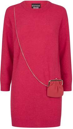 Moschino Sweater Dress with Bag Detail