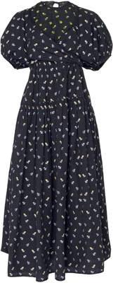 Cecilie Bahnsen Anna Printed Cotton Midi Dress