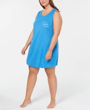 Macy's Jenni Plus Size Peekaboo-Back Sleepshirt, Created for
