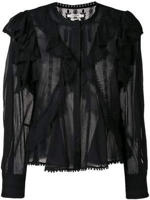 Etoile Isabel Marant ruffle embroidered blouse