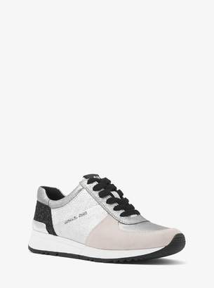 MICHAEL Michael Kors Allie Metallic Leather and Suede Sneaker