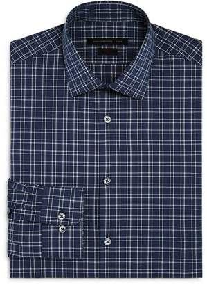 John Varvatos Windowpane Check Slim Fit Stretch Dress Shirt