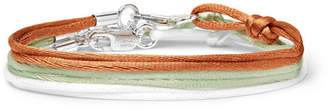 Rubinacci Set Of Three Silk Ribbon Bracelets