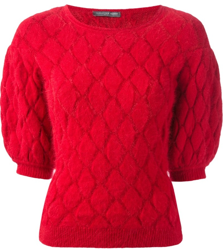 Alexander McQueen diamond check sweater