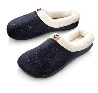 c7c93bd768a Roxoni Cozy Warm Sweater Knitted Glitter Slipper Luxury Style with Rubber  Sole