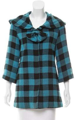 Marc by Marc Jacobs Plaid Bow-Accented Jacket