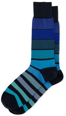 Paul Smith Grad Colorblock Socks, Navy $30 thestylecure.com