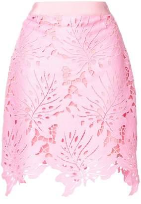 MSGM leaf patch mini skirt