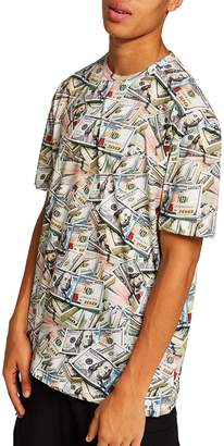 Topman Money Print T-Shirt