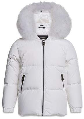 Mackage Morgan Classic Down Coat with Fur-Trimmed Hood - Baby