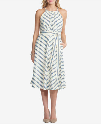 ECI Striped A-Line Dress $88 thestylecure.com