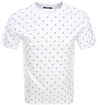 Calvin Klein Monogram Logo T Shirt White