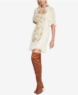 BCBGMAXAZRIA Metallic Floral Sequin Dress