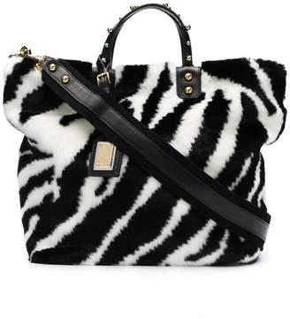 Free Shipping At Farfetch Dolce Gabbana Zebra Print Tote