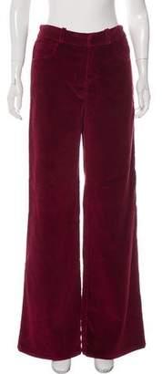 Oscar de la Renta Wide-Leg Corduroy Pants w/ Tags