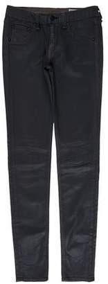 Rag & Bone Coated Low-Rise Pants