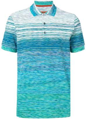 Missoni striped short-sleeve polo top