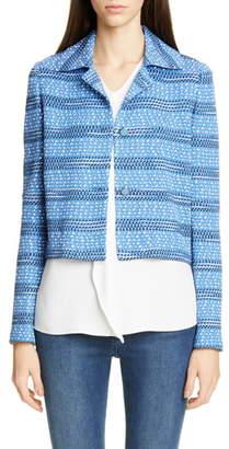 St. John Engineered Coastal Texture Tweed Jacket