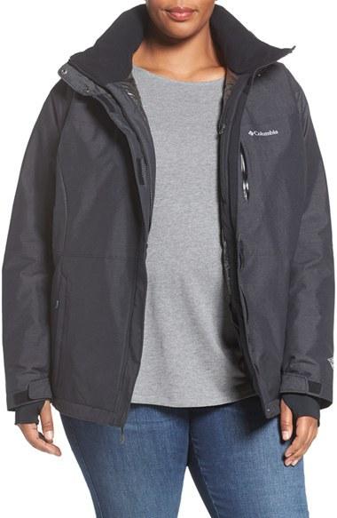 ColumbiaPlus Size Women's Columbia Alpine Action Waterproof Omni-Heat Hooded Jacket