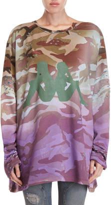 Faith Connexion Camo Kappa Oversized Pullover