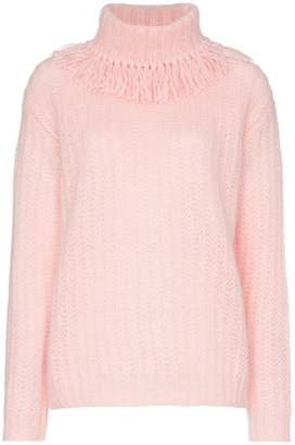 Miu Miu fringe roll neck