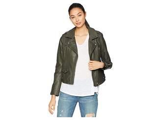 Blank NYC Vegan Leather Moto Jacket in Marry Jane