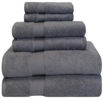 Superior Super Soft and Absorbent 100% Cotton Zero Twist Smart Dry 6PC Towel Set