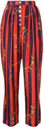 Raquel Allegra floral striped kimono trousers