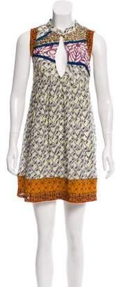 Elizabeth and James Silk Printed Mini Dress