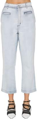 Loewe Cropped Cotton Denim Jeans